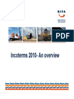 Incoterms 2010 - An Overview