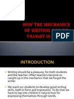 HOW THE MECHANICS OF WRITING CAN BE TAUGHT.pptx