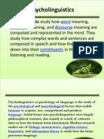 Psycholinguistic 1