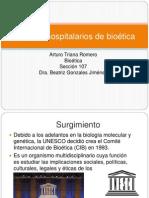 Comites hospitalarios de bioética