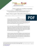Intervencion Neuropsicologica en Adolescente Con Problemas de Aprendizaje Analisis de Caso, Moreno, S.