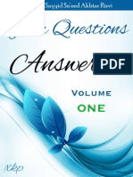 Your Questions Answered - Volume 1 - Allamah Sayyid Sa'eed Akhtar Rizvi - XKP