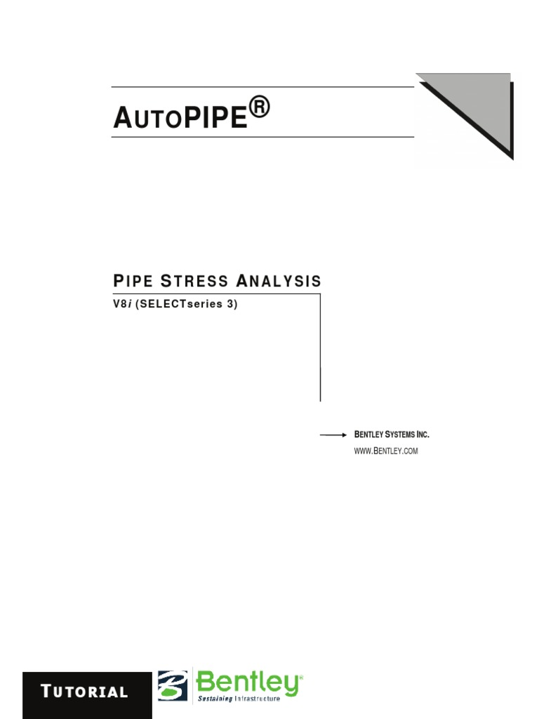 BENTLEY AutoPipe V8i_Operation Manual | Graphical User Interfaces |  Technical Support