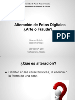 Alteración de Fotos Digitales ¿Arte o Fraude?