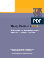 Informe Doing Business 2014 del Banco Mundial