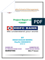 """Project Report on""""CASA"""" in HDFC"""