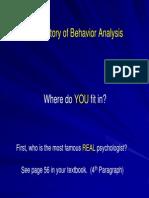 Behavior Analysis History