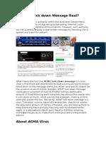 Remove ACMA Virus – Australian Communications and Media Authority Virus Blocks Computer