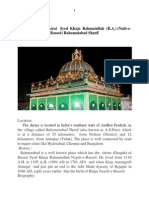 The life of  Hazrat   Syed  Khaja  Rahmatullah