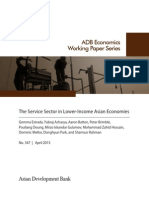 The Service Sector in Lower-Income Asian Economies