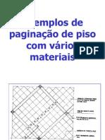 Exemplos de paginação de piso com vários materiais
