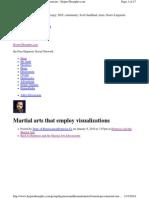 Martial Arts Visualization (Discussion)