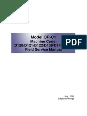 Ricoh Aficio 2852_3352 service manual | Image Scanner