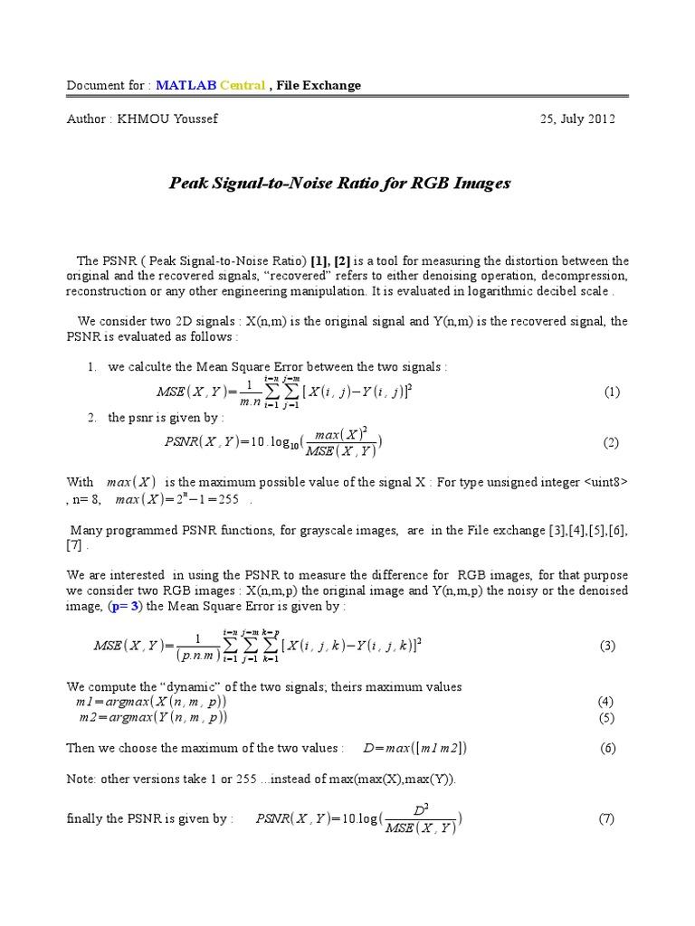 PSNR_RGB pdf | Signal Processing | Algorithms