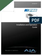 AJA KiPro Manual v2.0
