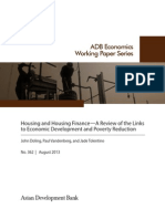 Housing and Housing Finance—A Review of the Links to Economic Development and Poverty Reduction