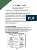 Compressors Capacity Control