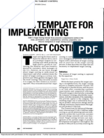 A TEMPLATE FOR IMPLEMENTING TARGET COSTING