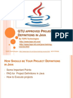 GTU approved Project Definitions in Java.ppt