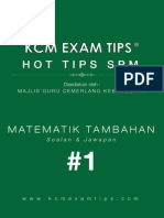 Add Math SPM KCM Exam Tips 1®