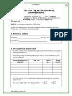 Postgrad Application Form Part 3