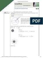 Problemas de aplicación de la ley de Gauss