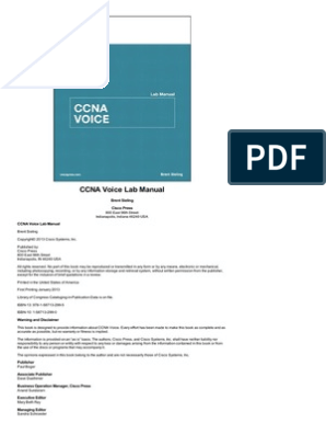 Ccn a Voice Lab Manual | Cisco Certifications | Router