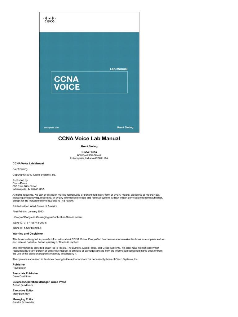 ccn a voice lab manual cisco certifications router computing rh es scribd com CCNA Home Lab CCNA Lab Logo