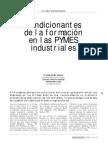 ART- 00 Condicionantes de La Formacion en Las Pymes Industriales