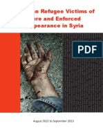 Report on human rights violations against Palestinian refugees in Syria