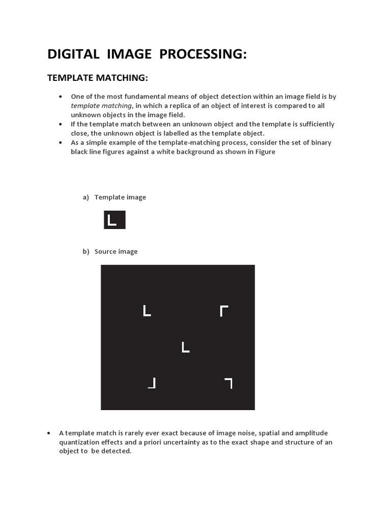 Template matching.docx | Applied Mathematics | Physics