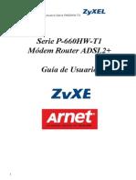 Zyxel Wifi p 660hw t1