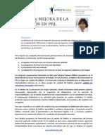 FRACASO y MEJORA DE LA FORMACIÓN EN PRL