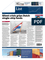 Carel van Lynden on the crisis that grips Dutch single-ship funds