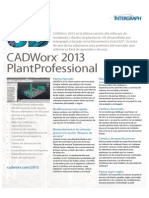 CADWorxPlantProfessionalProductSheet Spanish Janv2013