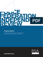 RSA Police Federation Review progress report