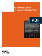 Email Archivierung Leitfaden Rechtssicherheit Deutschland