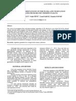 Preliminary observations on the flora and vegetation grasslands from RDCSEC Perieni, Vaslui
