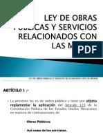 LEY DE OBRAS PÚBLICAS Y SERVICIOS RELACIONADOS CON