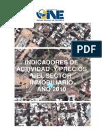 2010 Publicacion indicadores inmobiliarios