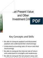 W6 Lecture 6 on Investment Criteria