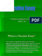 narrative essay engl 153
