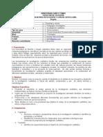 Programa - INVESTIGACIÓN CUALITATIVA II