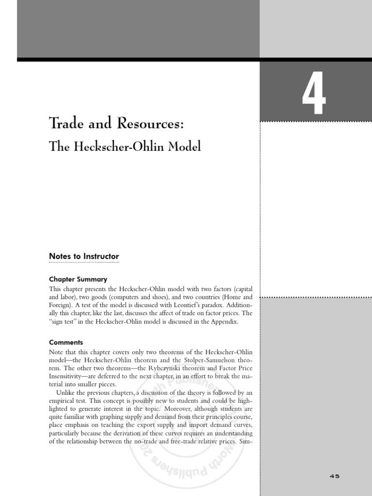Feenstra Trade IR Chap04 2nd Pass | Comparative Advantage | Labour Economics
