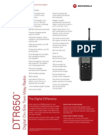 Motorola DTR650 Spec Sheet
