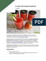 Conserva de Zumo de Tomate Natural