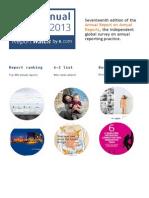 Best annual report 2013