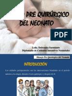 Manejo Preoperatorio Del Neonato - REDVENEO