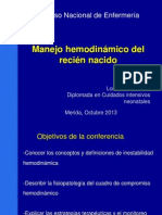 Manejo hemodinámico del recién nacido - REDVENEO