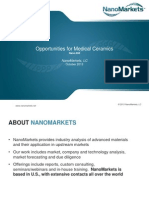 PowerPoint Slides from NanoMarkets Report on Medical Ceramics